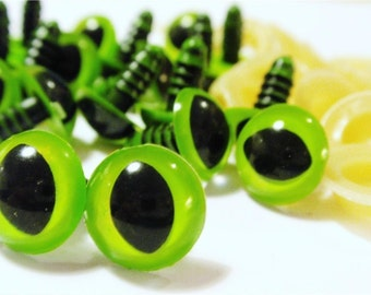 12mm Green Safety Eyes CAT EYE- 10pairs (20pcs) amigurumi