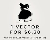 Vector clipart - .eps or .ai digital clip art pack, any 1 one clipart set in vector format, digital designs, vectorized