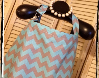 CHEVRON Sale 40% Off- Aqua Grey Chevron - HideAway  with OVERALL BUCKLE-Ready 2 Ship