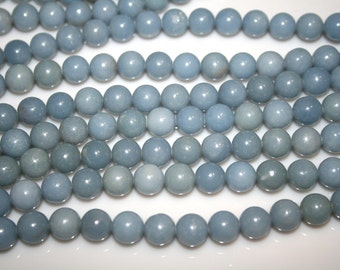 "ANGELITE Gemstone Beads 10mm 15.75"" strand  41 Beads"