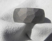 Titanium Ground Profile Band WIDE Ring or Wedding Band Sandblasted