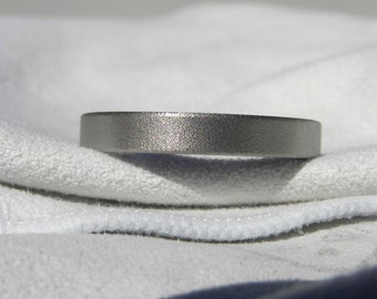 Titanium Ring Wedding Band 4mm size 12.25 Burnished Finish Clearance Listing