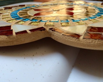 Flower mandala mosaic