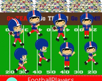 Football Players Series 2 digital clip art