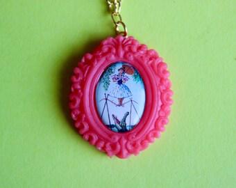 Coral Daisy De La Cruz Haunted Mansion Cameo Necklace