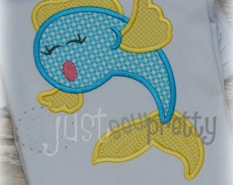 Goldfish Fish Embroidery Applique Design