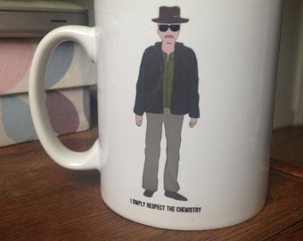 Walter White Heisenberg drawing illustrated mug