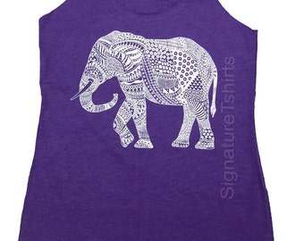 Elephant Tank top. Women's Tank Top. Workout Tank Top. Graphic tank top Elephant shirt cool ethnic animal print fashion tank top vintage tee
