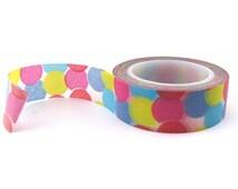 Confetti Dot Washi Tape - Polka Dot Washi Tape Roll - Birthday Washi Tape - Confetti Washi Tape - Masking Tape - Paper Tape