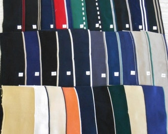 "COLLARS CUFFS 3 per purchase 100% cotton double knit finished edges approxmately 16"" x 4"" solids with stripes"