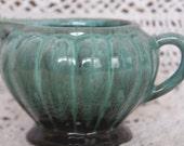 Vintage Evangeline Canada Pottery Creamer, Green Drip