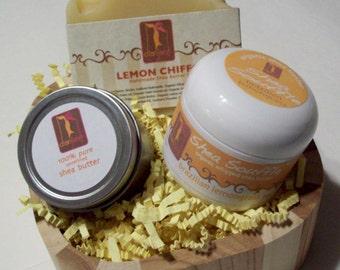 Lemongrass Gift Set with Lemon Chiffon Natural Soap