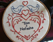 CUSTOM - wedding heart embroidery