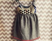 Fun Little Dress in Linen Fabric Size 3