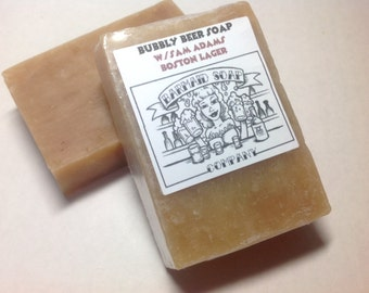 Beer soap w/Lager- Caramel and Tobacco Fragrance manly