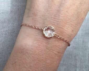 Crystal and Rose Gold Bracelet