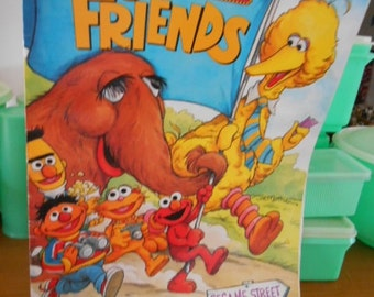 1994 Sesame Street Let's be Friends Live XLG story book