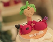 Crab  wedding cake topper---k634