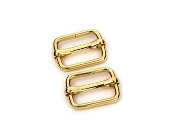 """30pcs - 3/4"""" Adjustable Slide Buckle - Gold - Free Shipping (SLIDE BUCKLE SBK-113)"""