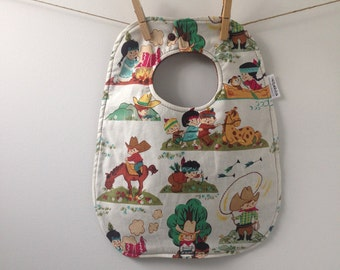 Cowboys and Indians Baby Bib - Baby Bib with Snaps