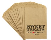 "Wedding Favor Candy Bags - Rustic Victorian ""Sweet Treats"" Wedding Reception Kraft treat bags candy buffet favor bags"