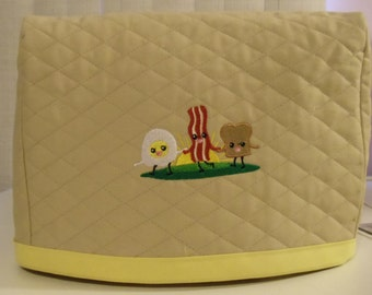 Tan Toaster Cover with Breakfast Buddies/2 slice
