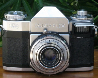 Vintage Zeiss Ikon Contaflex 35mm Film Camera with Case for Display