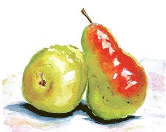 Pears (original watercolor)