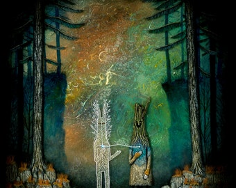 Invoking the Heart of the Forest Print
