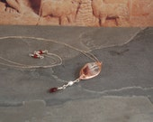 Burnt Waves Links Collection - Rose Gold - Silver - Lepidocrosite - Garnet - Freshwater Pearl - One of a Kind