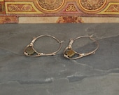 Viking and Medieval Inspired Hoop Earrings - Sterling Silver - Pyrite - Freshwater Pearls - Two tone Silver Metal Gold- Wearable Art Jewelry