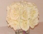 Wedding Centerpiece ivory rose decoration monogrammed wedding centerpiece for tables wedding centerpiece silk flowers wedding centerpiece