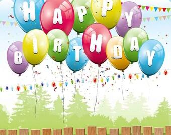 Colored Balloons 10' x 10' Digital Printing Backdrop Photography Backgroud YHA-532
