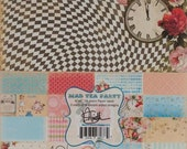 Mad Tea Party Alice In Wonderland Desinger 24-pics Paper Pad