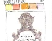Mozart's house ~ original watercolor