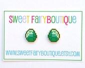 Minecraft Diamond stud earrings