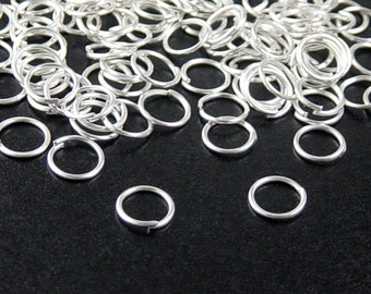 Jump Ring 100 Silver Unsoldered Closed 7mm 21 gauge NF (1023jum07s1)