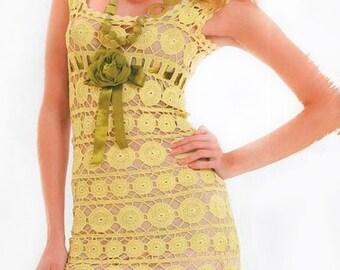 Crochet Dress Pattern. Lace crochet dress - Anabel  Level - Intermediate