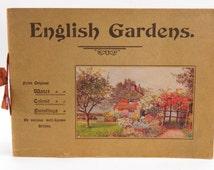 English Gardens From Original Water Colour Paintings Book J. Salmon, Art Printer
