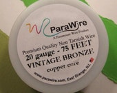 Vintage Bronze 20 Gauge Wire from ParaWire - 75 feet spool