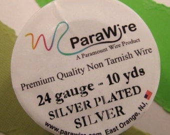 Silver Plated Silver - 24 Gauge Wire from ParaWire - 10 yard Spool