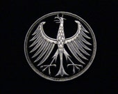 GERMANY - cut coin jewelry - 1951 - Imperial Eagle - SILVER