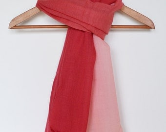 Red Scarf Ombre Scarf Nautical Scarf Unisex Scarf Pink Scarf Sailing Scarf