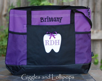 Personalized Dental RDH  CDA dentist tote Dental student  dental Hygienist student