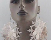 Unique Cut Design Fabric Earrings, Unique Earrings, Handmade Earrings, Large Fabric Earrings, Women Earrings, Large Earrings, Big Earrings
