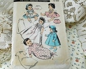 "1940s Uncut Betsy Westy and Suzy Doll Clothes Pattern, Advance Pattern 8454 for 16"" Doll  #22"