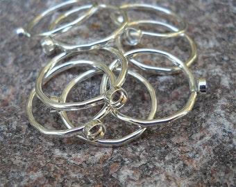 Ring Blank with Bezel - 14 ga stacker - eco friendly 925 sterling silver handmade Custom- bezels 2 3 4 5 6 7 8 9 10 12 14 16 18 20 mm