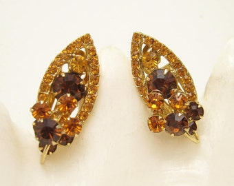 Vintage Rhinestone Earrings Vintage Jewelry E6655