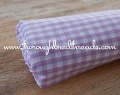 Lilac Gingham- Vintage Fabric Juvenile Traditional Doll Making Nursery Baby Orchard