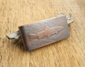 Trout money clip, fly fishing gift, trout fishing, fly fisherman gift, fish money clip, trout silhouette.